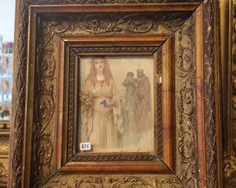 Great old French photo frame.