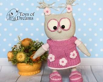 Crochet owl, Owl, Barn owl, Amigurumi owl, Cute owl, Plushy owl, Ready to ship