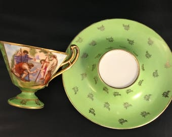 Vintage Men Working Victoria Austria Teacup from 1860's