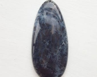 85ct Dendritic Opal Cabochon - natural loose gemstone smooth grass moss crafting jewellery mineral palmstone