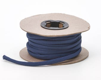 Broadcloth spaghetti, 1/4-inch Wide, 25 yds, Navy