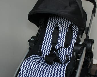 Baby Jogger City Select Stroller Liner - Navy and White