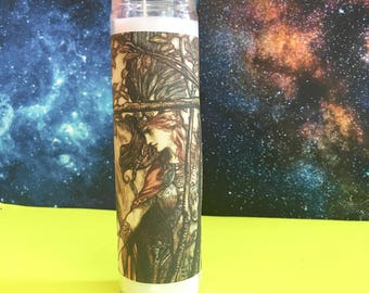 "Valkyrie ϟ 8"" Altar Candle - Norse Mythology - meditation - channeling - worship - handmade"