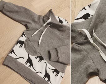 Hoodie with wrap collar Gr. 74