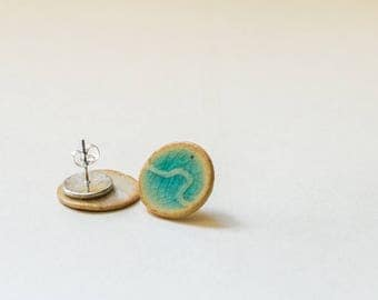 Ceramic Ear stud.