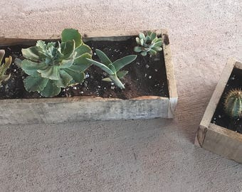 Reclaimed Wood Garden Box - 5x5 Inch