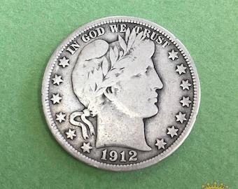 1912 Barber Half Dollar USA Fine