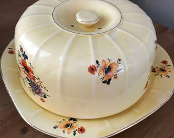 Limoges China - Golden Glow Covered Cake Plate