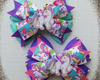 Unicorn hairbows