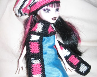 hat and scarf for Monster High doll