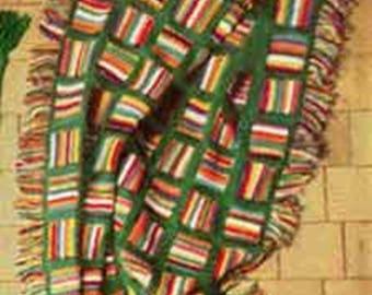 Star Stitch Afghan Crochet Pattern, Vintage Pattern