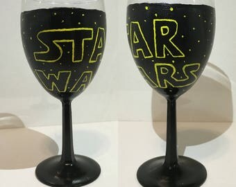 Star Wars wine glass set