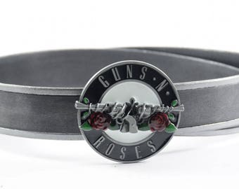 Guns N' Roses Buckle with Leather Belt