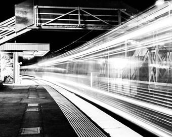 Stunning* Long Exposure Train (artwork print)