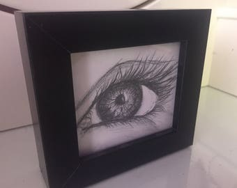 Original pencil eye drawing