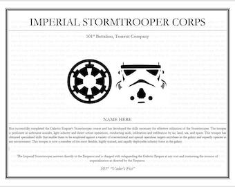 Star Wars Certificate - Imperial Stormtrooper Corps