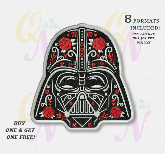 BOGO FREE Darth Vader Applique Embroidery Design Star Wars