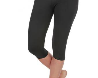 Verscos Women's Stretch Capris Cropped Tight Leggings 5063