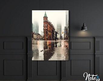 Rainy City Streets Digital Print, Wall Art, Instant Download, Photo, Printable Photography, Living Room Art, Downloadable Print PO006