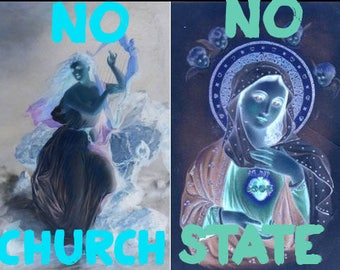 The Hag of Eire - No Church/No State Poster