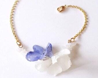 Bracelet real flowers