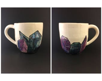 Blue & Purple Iridescent Crystal Mug # 2