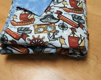 Child's throw blanket ships ahoy