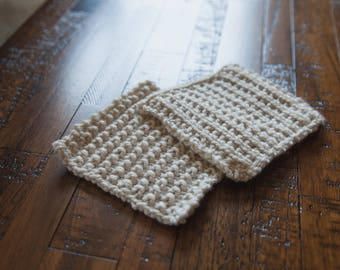 Handmade Cleaning Cloths | Crochet Baby Washcloths | Cotton Cloths- Set of 2
