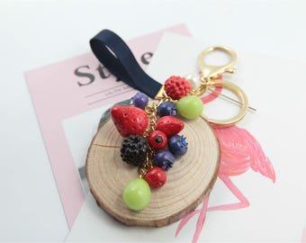 fruits keychains