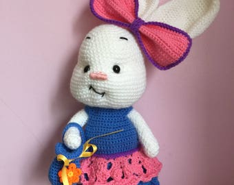 Cute crochet girl bunny