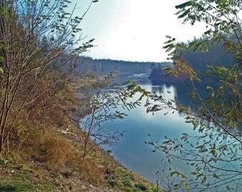 """Photo poster """"Dreamy river landscape"""", photo on premium photo paper, brilliant colours, non-fading"""