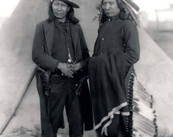 American Indians Chiefs-Red-Cloud & American Horse