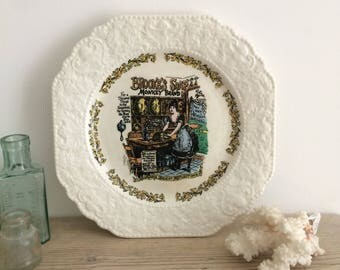 Lord Nelson Pottery, Monkey Brand Porcelain Decorative Vintage Plate