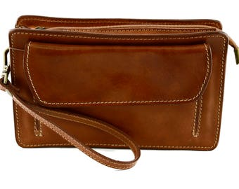 Genuine Leather Man Clutch