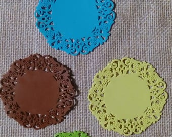 LACE COASTERS - set of four silicone lace design