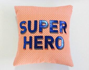 REVAMPED: Kids Cushion Cover 35cm - 'Super Hero'