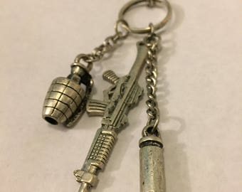 Gun and ammo necklace