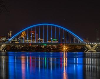 Lowry Bridge in Minneapolis, Skyline, Minnesota, Minneapolis