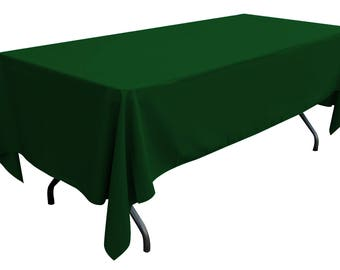 60'' x 108'' rectangle polyester tablecloth (green)