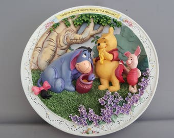 Winnie The Pooh & Friends - Bradford Exchange - Nobody Can Be Uncheered With A Balloon - 3DPlate A7027