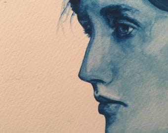 Virginia Woolf - Original Watercolor Painting