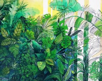 Greenery 2,  Limited Edition Print 3/25 on Enhanced Matt Paper & Archival Inks
