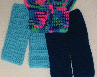 "Crocheted American Girl/18"" doll pants"