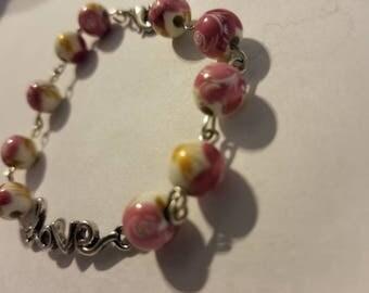 flower power love bracelet