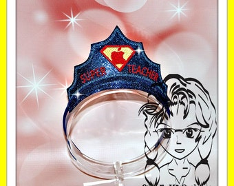 SuPER TeACHER CRoWN ~ In The Hoop Headband ~ Downloadable DiGiTaL Machine Embroidery Design by Carrie