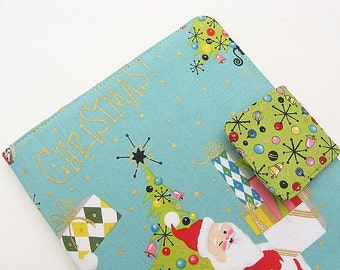 Christmas Santa Kindle Cover Kindle Voyage Cover Kindle Fire HD Cover Nook Cover Nook Simple Touch Cover iPad Mini Cover eReader Cover