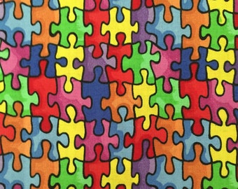 Weighted Blanket - Adult or Child - Autism Awareness Puzzle Pieces - Choose your weight (up to 15 lbs) and minky color - custom