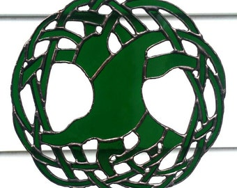 Celtic Tree of Life Stained Glass - Celtic Stained Glass Suncatcher - Sarah Segovia - Fragile Beauty