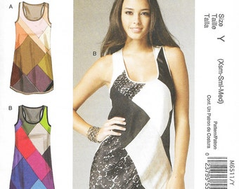 McCall's 6511  - PATCHWORK / Color Block TANK TOP - Sewing Pattern - Sizes 4-6-8-10-12-14 - Uncut