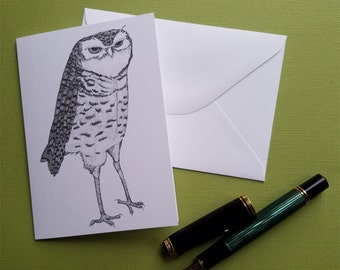 mr. owl greeting card note card